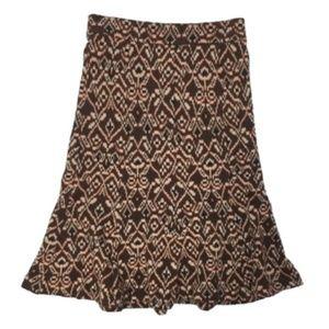 DIANE VON FUSTENBERG ikat fluted sweater skirt 4